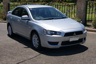 2011 Mitsubishi Lancer CJ MY11 SX Silver 5 Speed Manual Sedan.