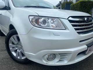 2009 Subaru Tribeca B9 MY09 R AWD Premium Pack White 5 Speed Sports Automatic Wagon.