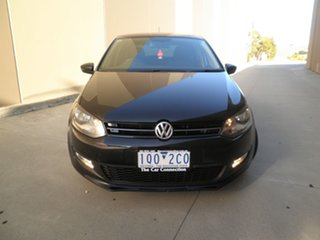 2012 Volkswagen Polo 6R MY12.5 77TSI Comfortline Black Pearlescent 6 Speed Manual Hatchback