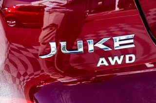 2016 Nissan Juke F15 Series 2 Ti-S X-tronic AWD Red/Black 1 Speed Constant Variable Hatchback