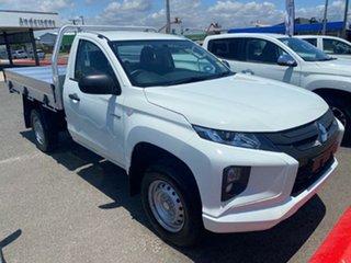 2020 Mitsubishi Triton MR MY21 GLX White 6 Speed Sports Automatic Cab Chassis.