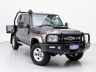 2020 Toyota Landcruiser VDJ79R GXL (4x4) Grey 5 Speed Manual Double Cab Chassis.