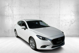 2016 Mazda 3 BN5438 SP25 SKYACTIV-Drive GT White 6 Speed Sports Automatic Hatchback.
