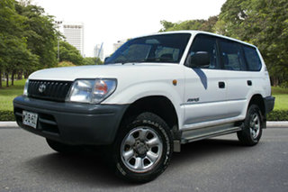 1998 Toyota Landcruiser Prado VZJ95R RV6 White 4 Speed Automatic Wagon.