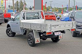 2015 Mitsubishi Triton MN MY15 GL 4x2 Silver 5 Speed Manual Cab Chassis.