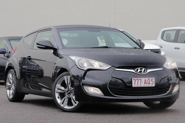 Used Hyundai Veloster FS2 Coupe D-CT Windsor, 2013 Hyundai Veloster FS2 Coupe D-CT Black 6 Speed Sports Automatic Dual Clutch Hatchback