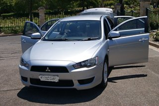 2011 Mitsubishi Lancer CJ MY11 SX Silver 5 Speed Manual Sedan