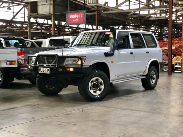 Used Nissan Patrol GU DX5 Mile End South, 1998 Nissan Patrol GU DX5 White 5 Speed Manual Wagon