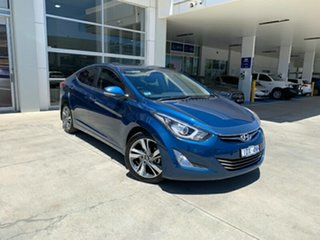2014 Hyundai Elantra MD3 Premium Blue 6 Speed Sports Automatic Sedan.