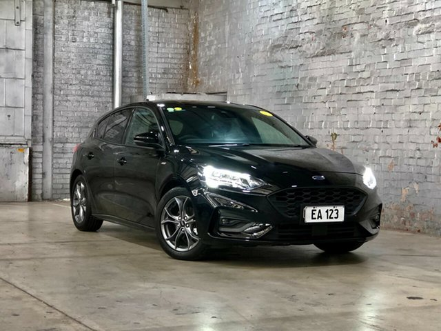 Used Ford Focus SA 2020.25MY ST-Line Mile End South, 2019 Ford Focus SA 2020.25MY ST-Line Black/Grey 8 Speed Automatic Hatchback
