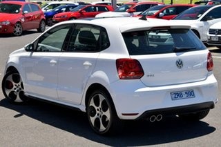 2012 Volkswagen Polo 6R MY13 GTI DSG White 7 Speed Sports Automatic Dual Clutch Hatchback.