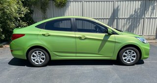 2012 Hyundai Accent RB Active Green Apple 5 Speed Manual Sedan.
