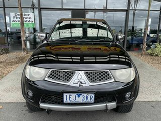 2010 Mitsubishi Triton MN MY10 GLX-R (4x4) Black 5 Speed Manual 4x4 Double Cab Utility.
