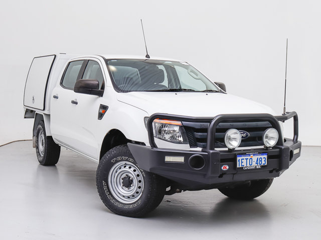Used Ford Ranger PX XL 3.2 (4x4), 2015 Ford Ranger PX XL 3.2 (4x4) White 6 Speed Manual Dual Cab Chassis