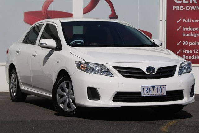 Pre-Owned Toyota Corolla ZRE152R MY11 Ascent Ferntree Gully, 2011 Toyota Corolla ZRE152R MY11 Ascent White 4 Speed Automatic Sedan