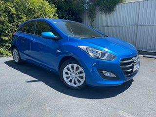2016 Hyundai i30 GD4 Series II MY17 Active Marina Blue 6 Speed Manual Hatchback.