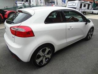 2012 Kia Rio UB MY13 SLS White 6 Speed Automatic Hatchback