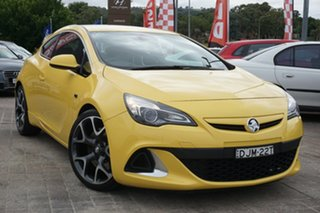 2015 Holden Astra PJ MY15.5 VXR Yellow 6 Speed Manual Hatchback.