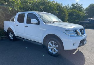 2013 Nissan Navara D40 S6 MY12 ST Polar White 6 Speed Manual Utility.
