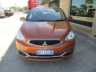 2016 Mitsubishi Mirage LA ES Orange 1 Speed Automatic Hatchback.