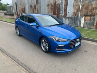 2017 Hyundai Elantra AD MY17 SR DCT Turbo Electric Blue 7 Speed Sports Automatic Dual Clutch Sedan.