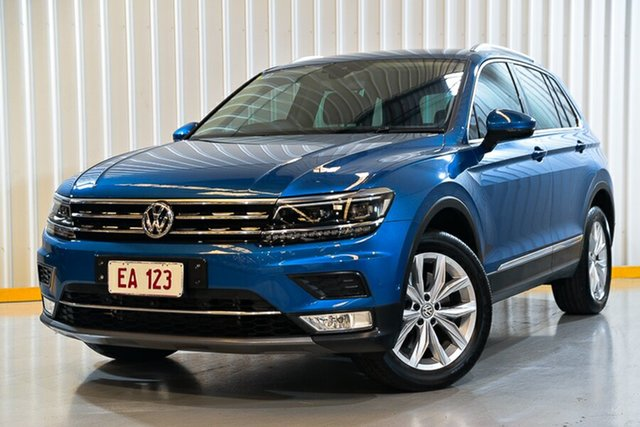 Used Volkswagen Tiguan 5N MY17 140TDI DSG 4MOTION Highline Hendra, 2016 Volkswagen Tiguan 5N MY17 140TDI DSG 4MOTION Highline Blue 7 Speed Sports Automatic Dual Clutch