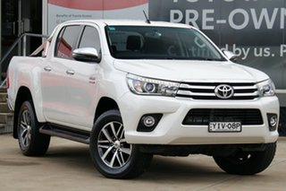 2018 Toyota Hilux GUN126R 4x4 Crystal Pearl 6 Speed Automatic Dual Cab.