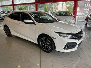 2017 Honda Civic 10th Gen MY17 VTi-LX White 1 Speed Constant Variable Hatchback.
