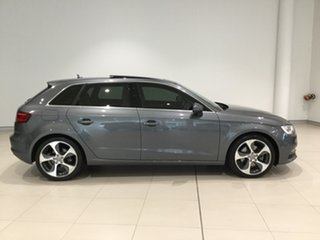 2014 Audi A3 8V Ambition Sportback S Tronic Grey/White 7 Speed Sports Automatic Dual Clutch.
