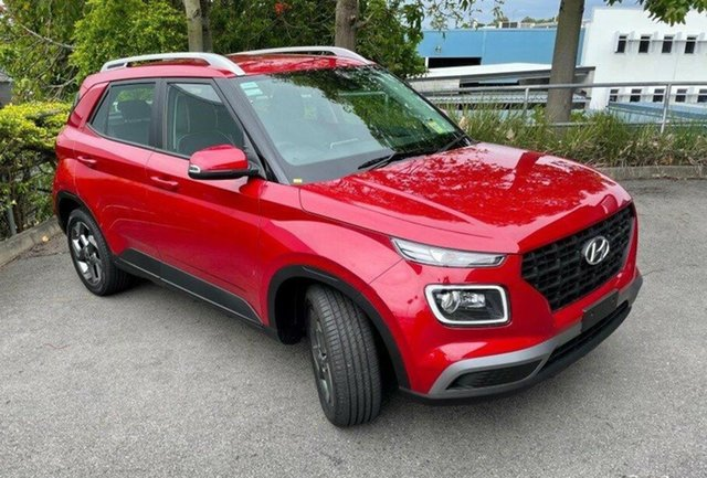 New Hyundai Venue QX.V3 MY21 Active Springwood, 2020 Hyundai Venue QX.V3 MY21 Active Fiery Red 6 Speed Automatic Wagon