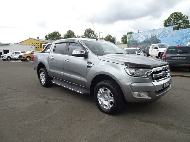 Used Ford Ranger PX MkII XLT Double Cab Nowra, 2015 Ford Ranger PX MkII XLT Double Cab Aluminium 6 Speed Manual Utility