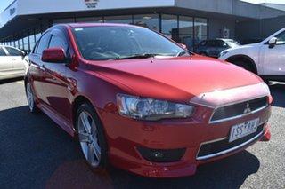 2011 Mitsubishi Lancer CJ MY11 Aspire Red/Black 6 Speed Constant Variable Sedan.