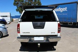 2011 Nissan Navara D40 Series 4 ST-X (4x4) White 6 Speed Manual Dual Cab Pick-up