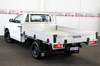 Toyota Hilux Glacier White Cab Chassis.