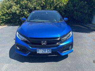 2018 Honda Civic 10th Gen MY18 VTi-LX Blue 1 Speed Constant Variable Hatchback.