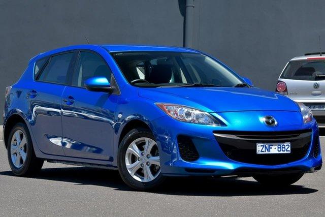 Used Mazda 3 BL10F2 Neo Activematic Moorabbin, 2012 Mazda 3 BL10F2 Neo Activematic Blue 5 Speed Sports Automatic Hatchback
