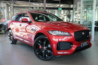 2017 Jaguar F-PACE X761 MY17 S Red 8 Speed Sports Automatic Wagon.