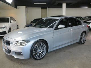2015 BMW 3 Series F30 LCI 330i M Sport Silver 8 Speed Sports Automatic Sedan.