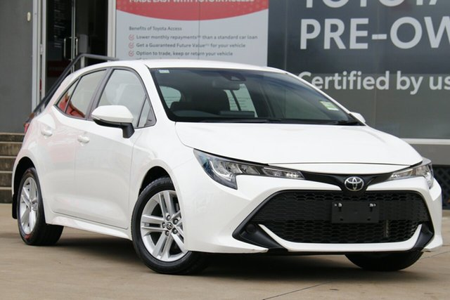 Pre-Owned Toyota Corolla Mzea12R Ascent Sport Guildford, 2019 Toyota Corolla Mzea12R Ascent Sport Glacier White 10 Speed Constant Variable Hatchback