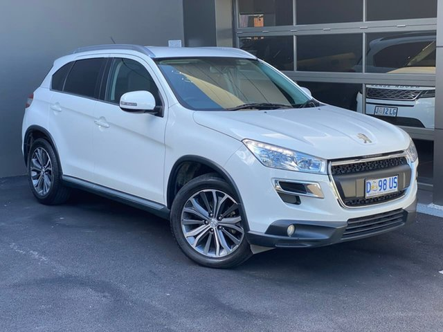 Used Peugeot 4008 MY14 Active 2WD Hobart, 2013 Peugeot 4008 MY14 Active 2WD White 6 Speed Constant Variable Wagon