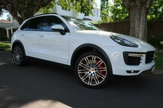 2015 Porsche Cayenne 92A MY15 Turbo Tiptronic White 8 Speed Sports Automatic Wagon.