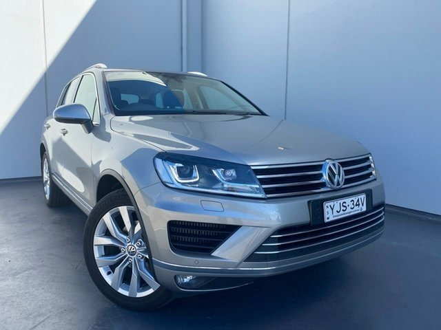 Used Volkswagen Touareg 7P MY15 V6 TDI Tiptronic 4MOTION Liverpool, 2015 Volkswagen Touareg 7P MY15 V6 TDI Tiptronic 4MOTION Silver 8 Speed Sports Automatic Wagon