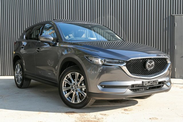New Mazda CX-5 KF4WLA Akera SKYACTIV-Drive i-ACTIV AWD Mornington, 2020 Mazda CX-5 KF4WLA Akera SKYACTIV-Drive i-ACTIV AWD Machine Grey 6 Speed Sports Automatic Wagon