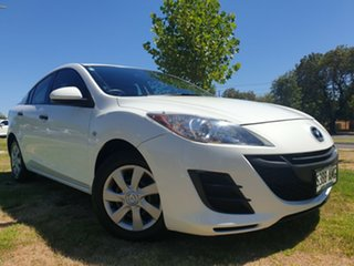 2011 Mazda 3 BL10F1 MY10 Neo Crystal White 6 Speed Manual Sedan.