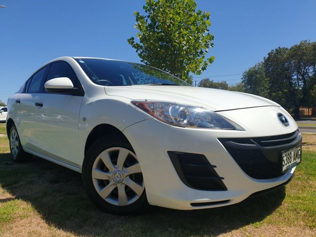 Used Mazda 3 BL10F1 MY10 Neo Hindmarsh, 2011 Mazda 3 BL10F1 MY10 Neo Crystal White 6 Speed Manual Sedan