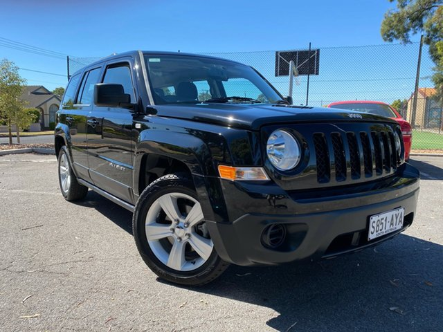 Used Jeep Patriot MK MY14 Sport 4x2 Nailsworth, 2013 Jeep Patriot MK MY14 Sport 4x2 Black 6 Speed Sports Automatic Wagon