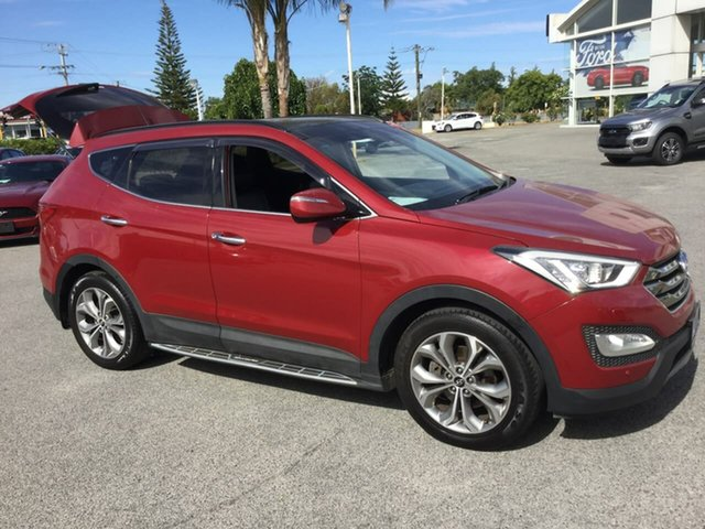 Used Hyundai Santa Fe DM MY14 Highlander Morley, 2013 Hyundai Santa Fe DM MY14 Highlander Red 6 Speed Sports Automatic Wagon