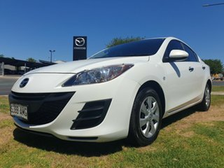 2011 Mazda 3 BL10F1 MY10 Neo Crystal White 6 Speed Manual Sedan