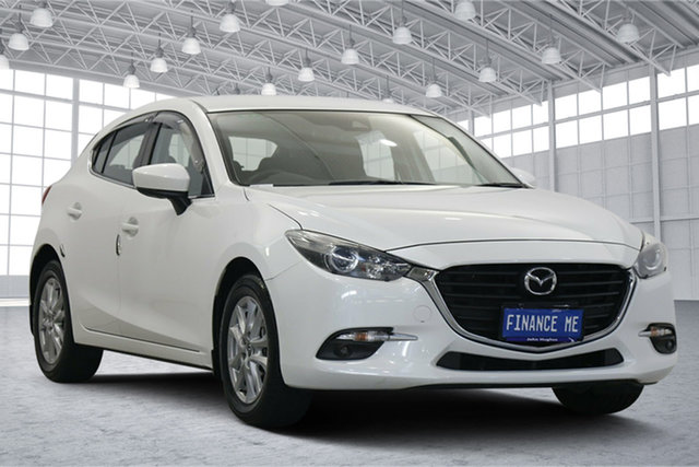 Used Mazda 3 BN5478 Maxx SKYACTIV-Drive Victoria Park, 2017 Mazda 3 BN5478 Maxx SKYACTIV-Drive White 6 Speed Sports Automatic Hatchback