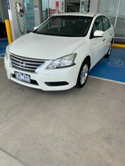 2013 Nissan Pulsar B17 ST White 1 Speed Constant Variable Sedan.